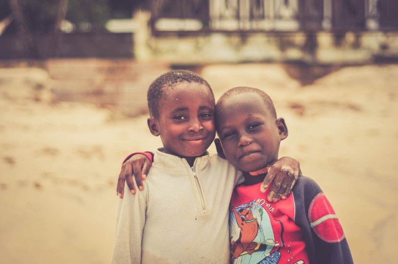 Two Sierra Leonean Children on Tokeh Beach